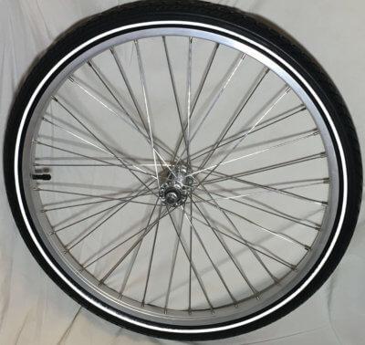 Front wheel 24 for cargo bike