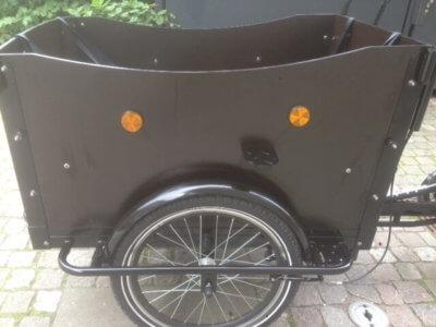 Electric Cargo bike left wood panel