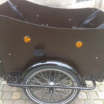 Electric Cargo bike right wood panel