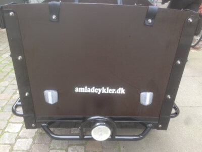 electric Cargo bike front wood panel