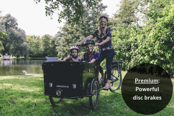 Electric Cargo Bike with powerful disc brakes