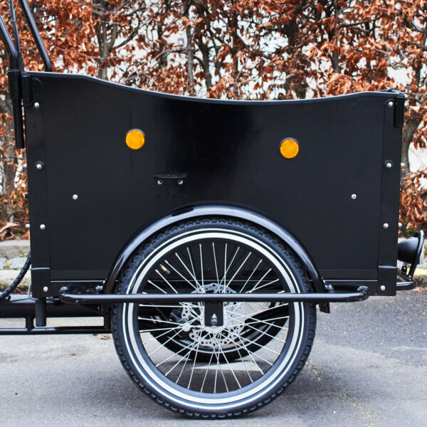 Electric Cargo right side wood panel Amcargobikes