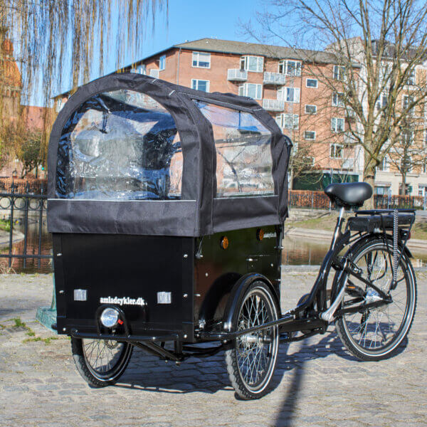 Canopy Electric Cargo Bike Amcargobikes